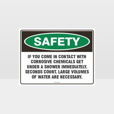 Corrosive Chemicals Sign