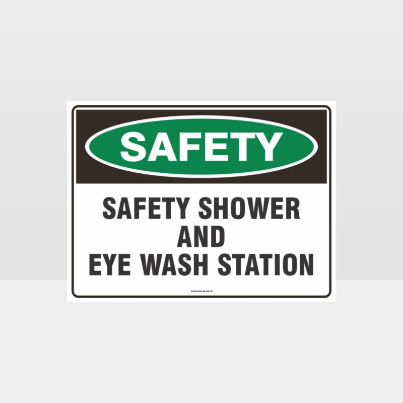 Shower And Eye Wash Sign