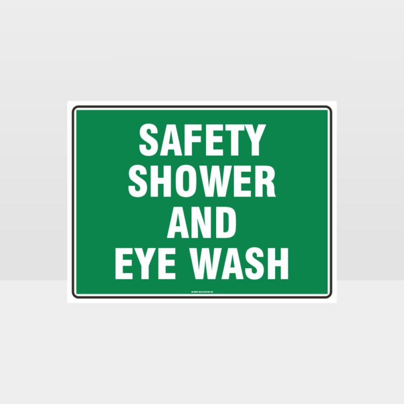 Shower And Eye Wash 01 Sign