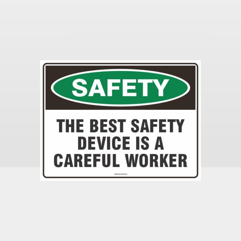 Careful Worker Sign
