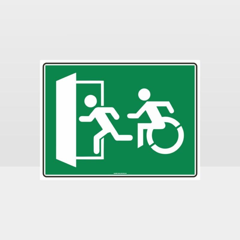 Emergency Exit Left Sign