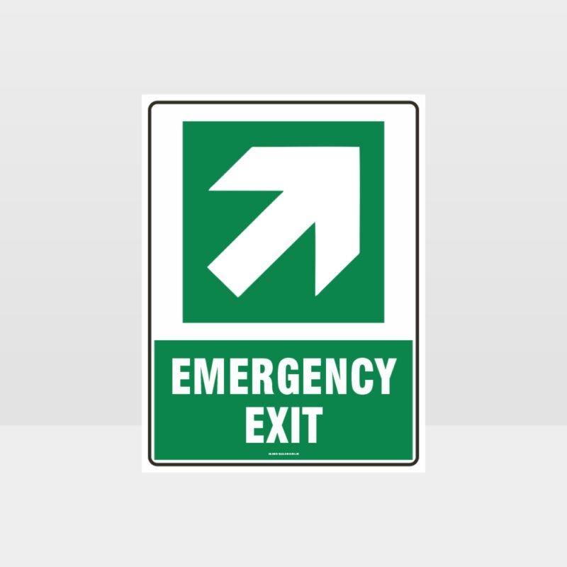 Emergency Exit Arrow Sign