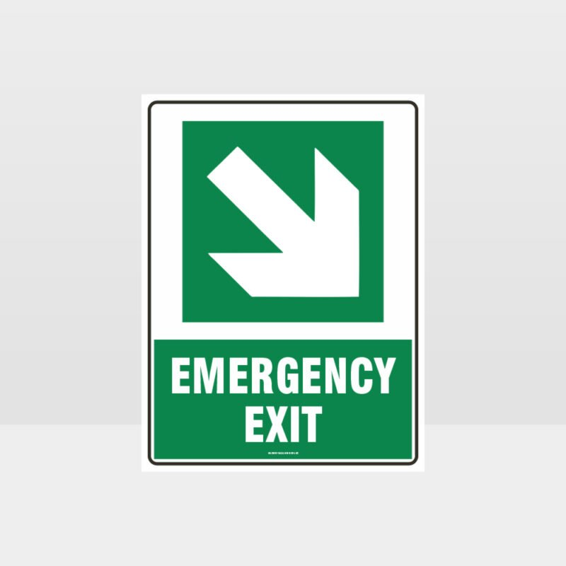 Emergency Exit Arrow 02 Sign