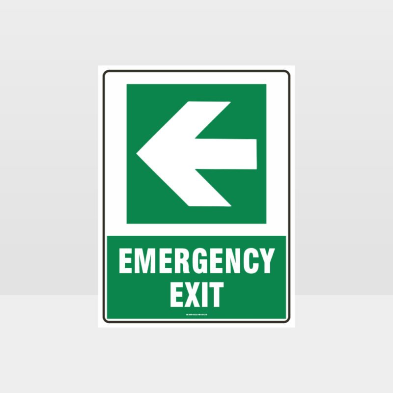 Emergency Exit Arrow 04 Sign