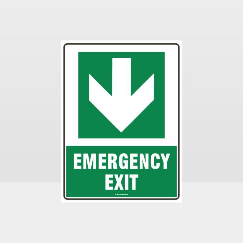 Emergency Exit Arrow 05 Sign
