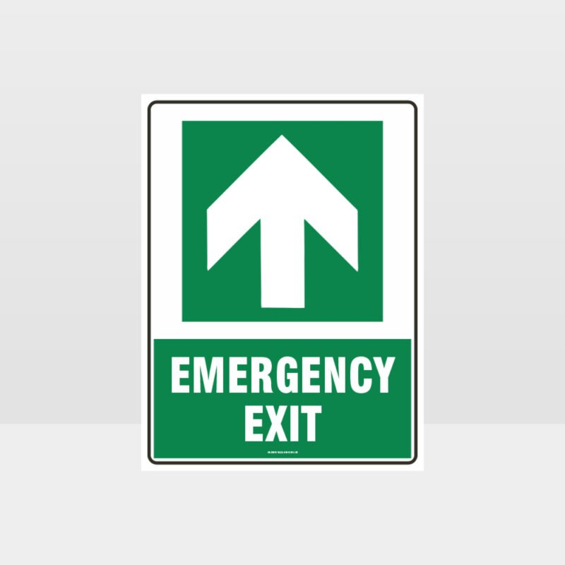Emergency Exit Arrow 07 Sign