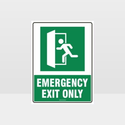 Emergency Exit Only Left Sign