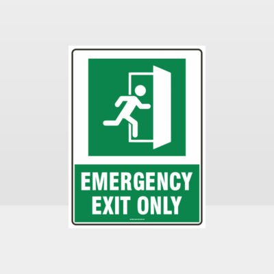 Emergency Exit Only Right Sign