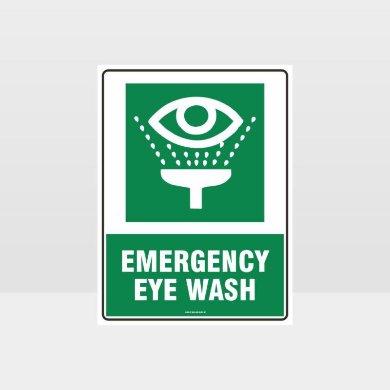 Emergency Eye Wash 01 Sign