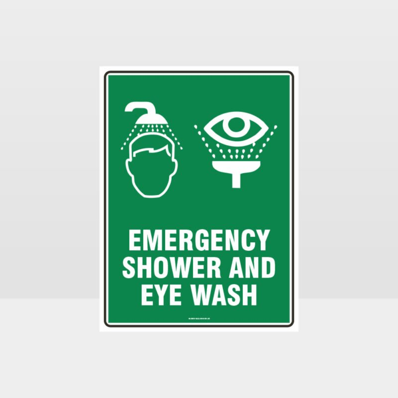 Emergency Shower 02 Sign