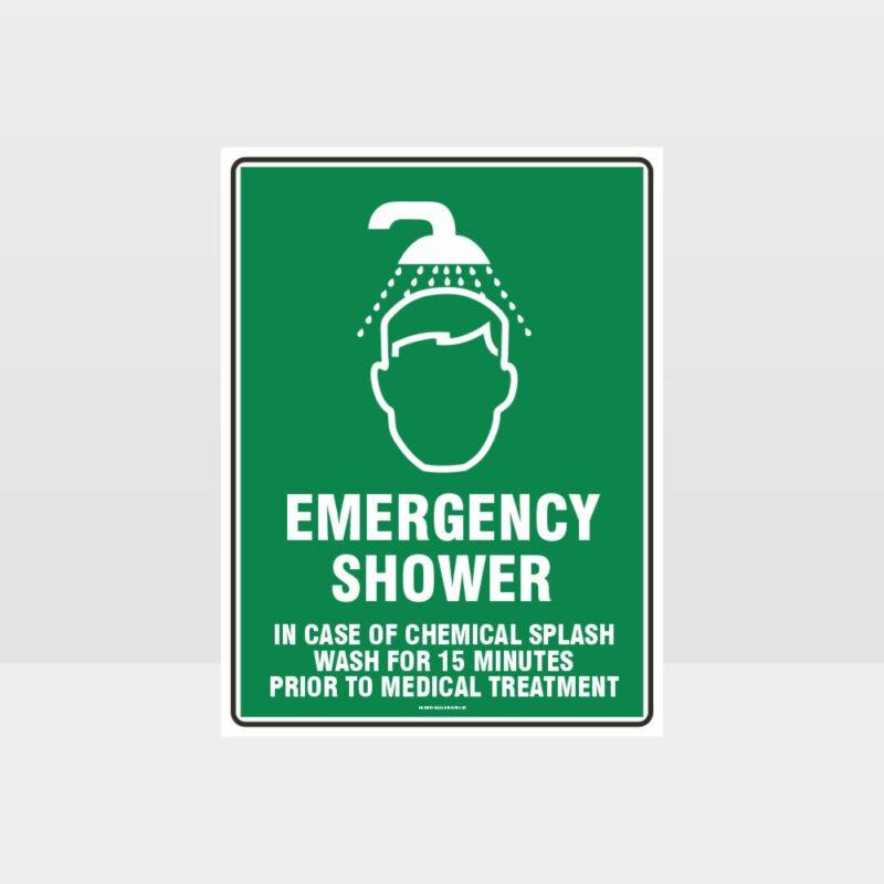 Emergency Shower 03 Sign