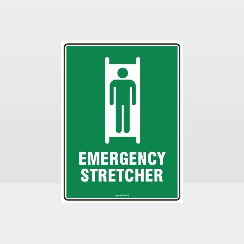 Emergency Stretcher Sign