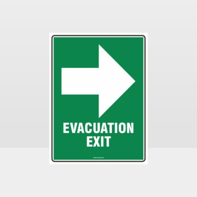 Evacuation Exit Sign