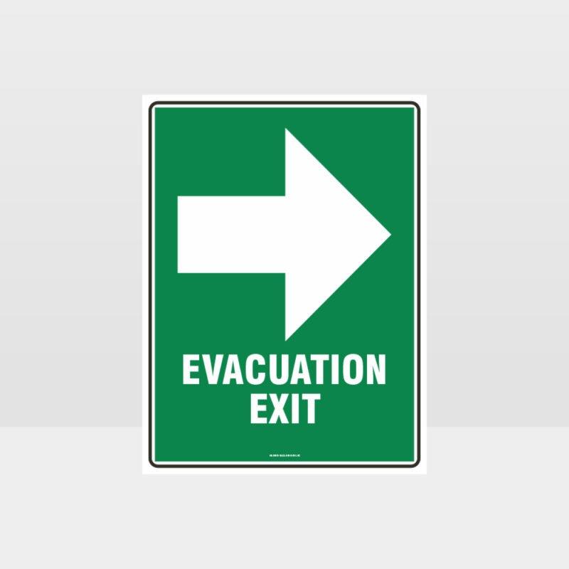 Evacuation Exit Sign