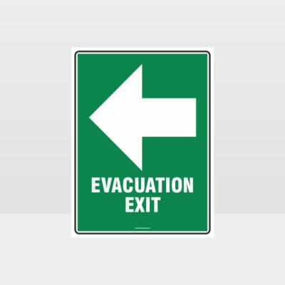 Evacuation Exit Left Sign