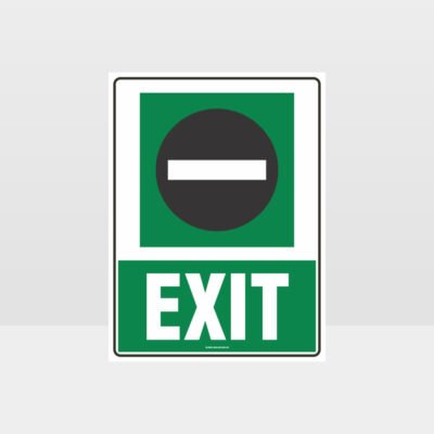 Exit 01 Sign