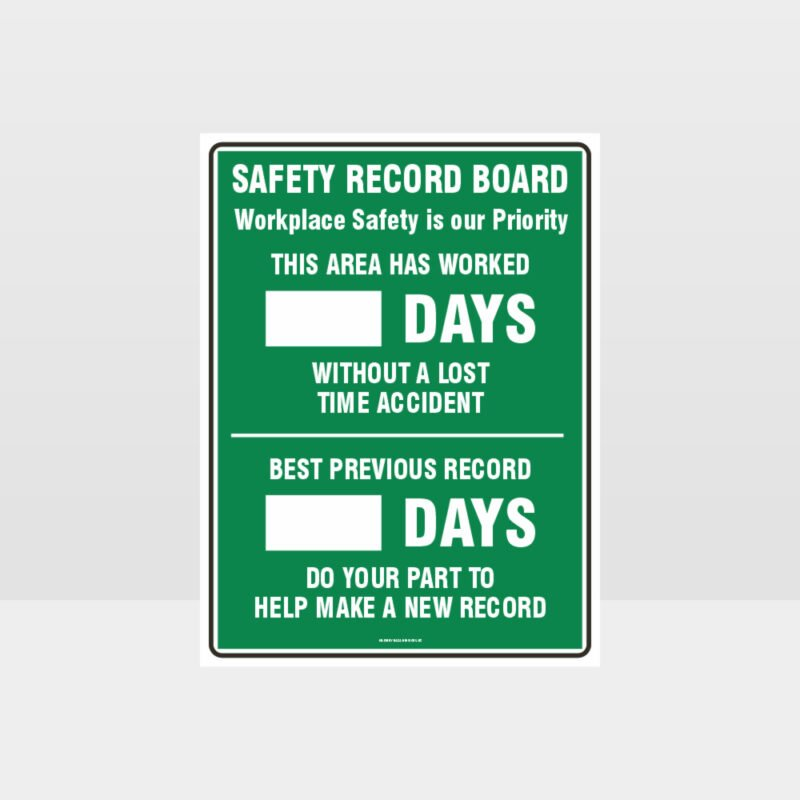 Safety Record Board Sign