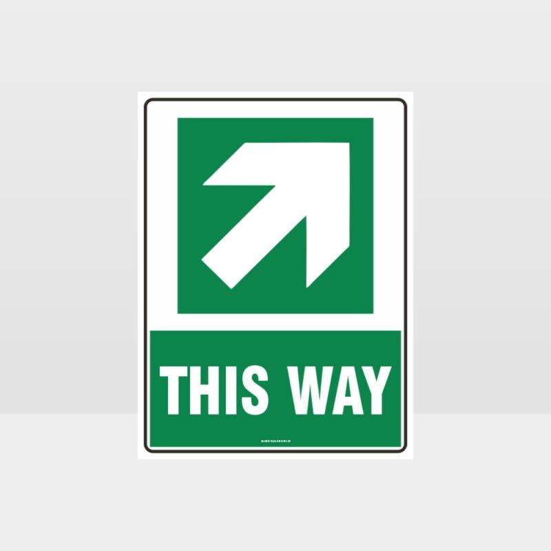 This Way Arrow Sign