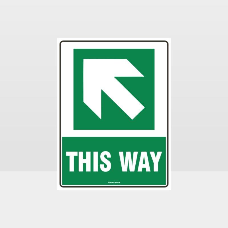 This Way Arrow 01 Sign