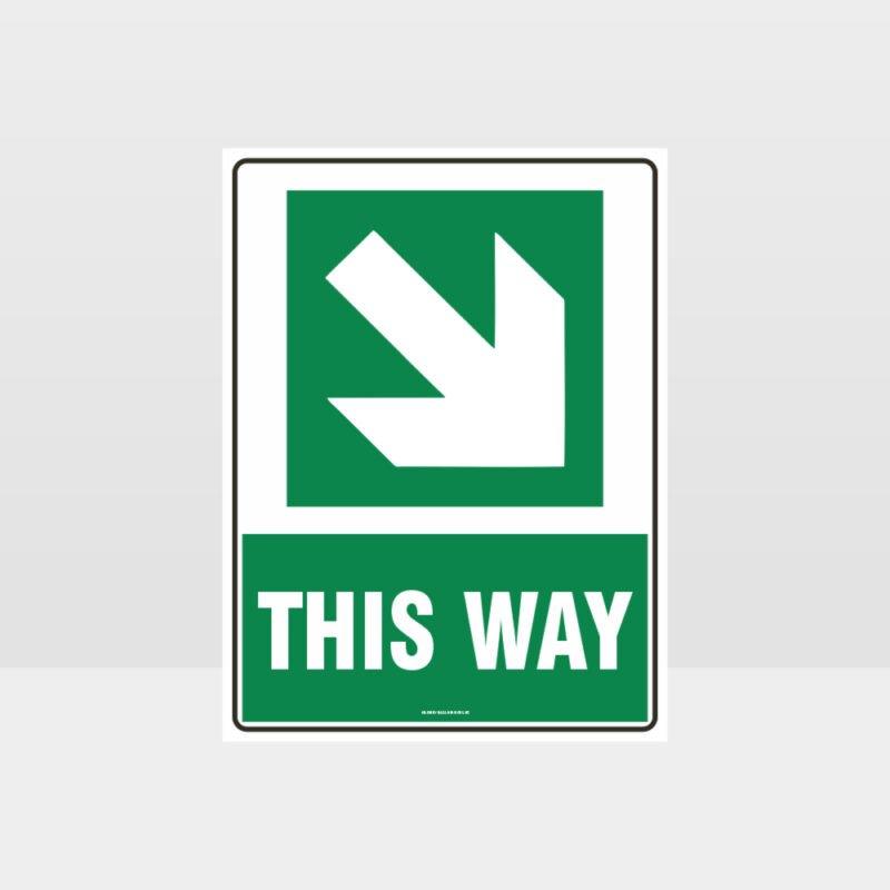 This Way Arrow 02 Sign