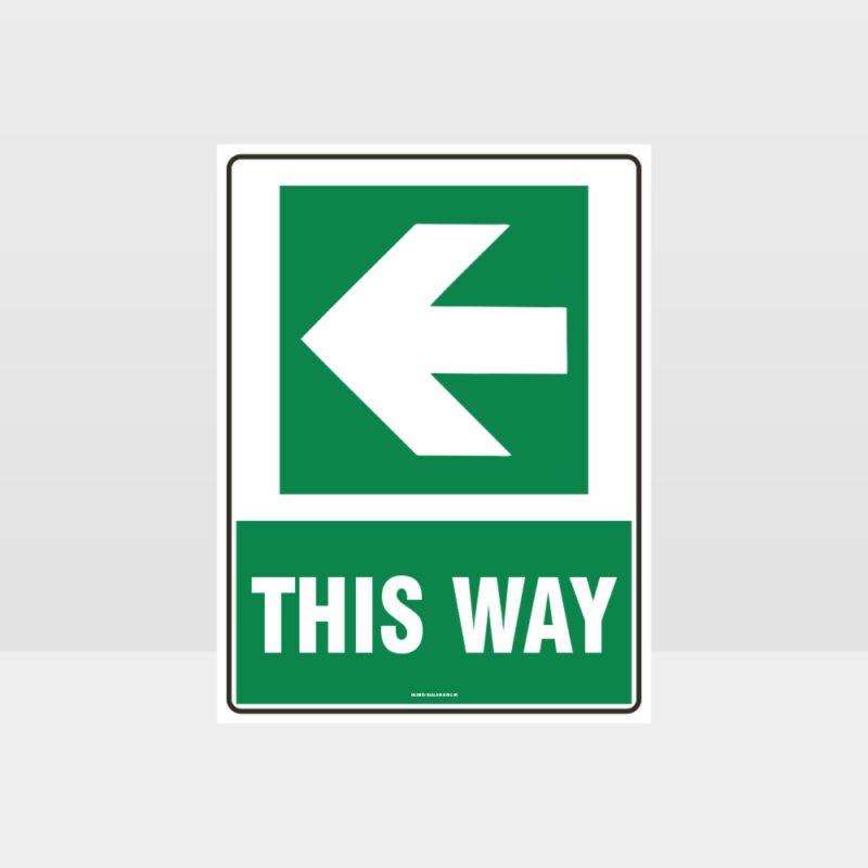 This Way Arrow 04 Sign
