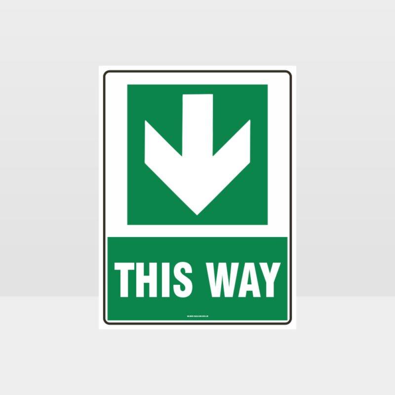 This Way Arrow 05 Sign