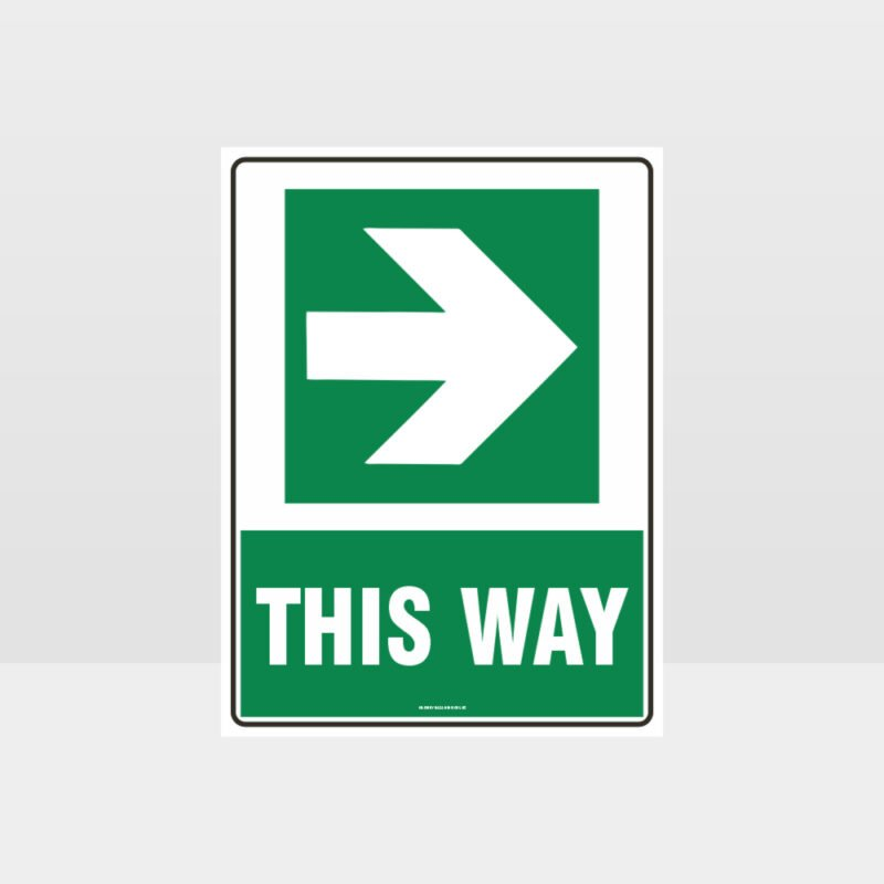 This Way Arrow 06 Sign
