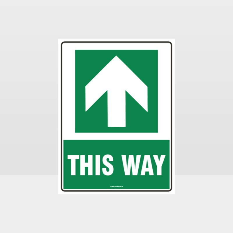 This Way Arrow 07 Sign