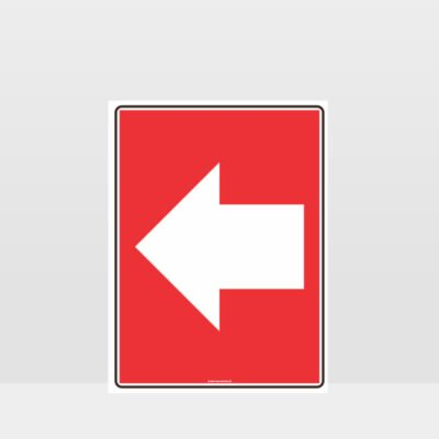 Fire Left Arrow Sign