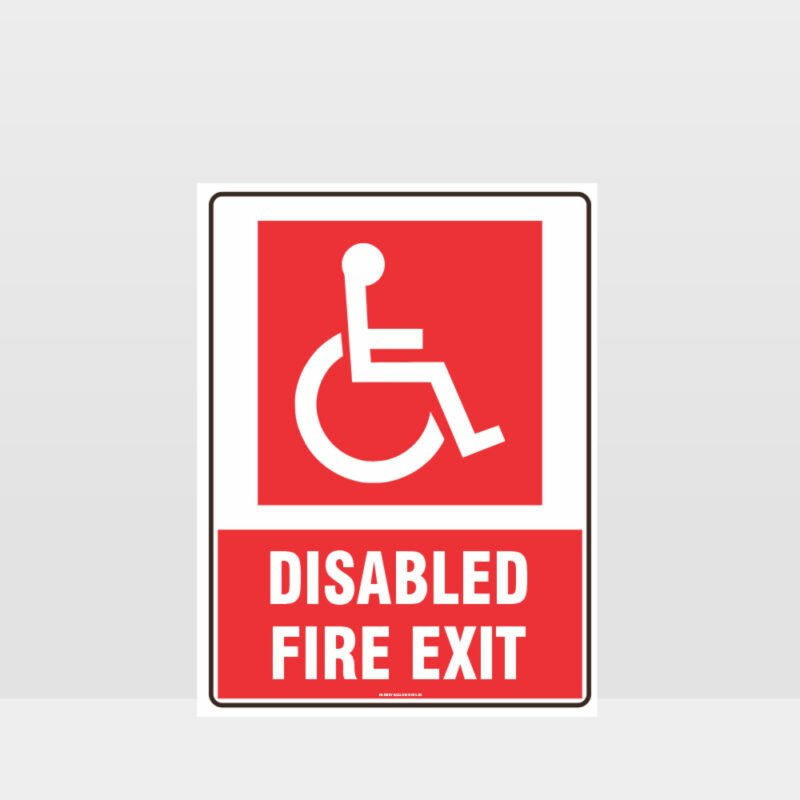 Fire Disabled Fire Exit Sign