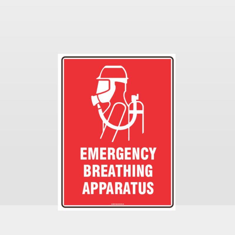 Emergency Breathing Apparatus Sign