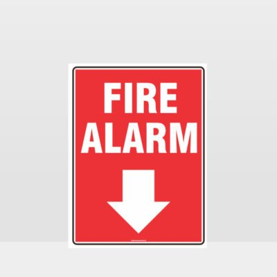 Fire Alarm Down Arrow Sign