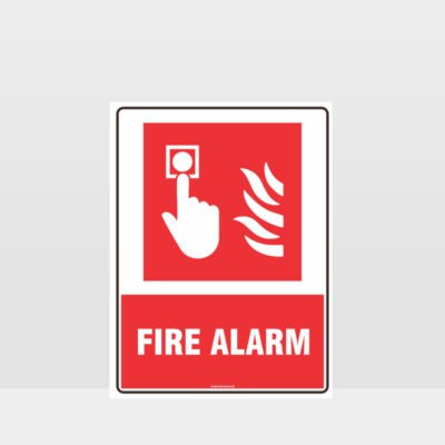 Fire Alarm Push Button Sign
