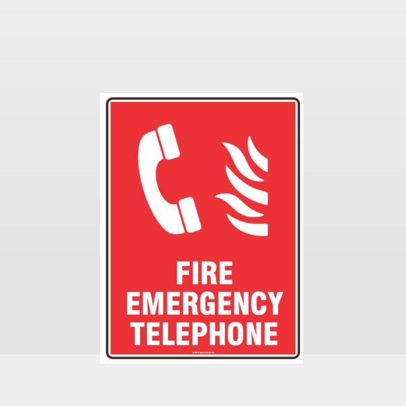 Fire Emergency Telephone Sign