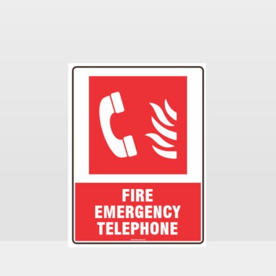Fire Emergency Telephone Sign 02