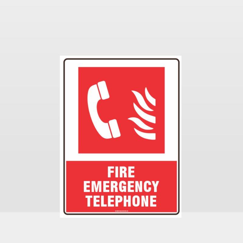 Fire Emergency Telephone Sign 02