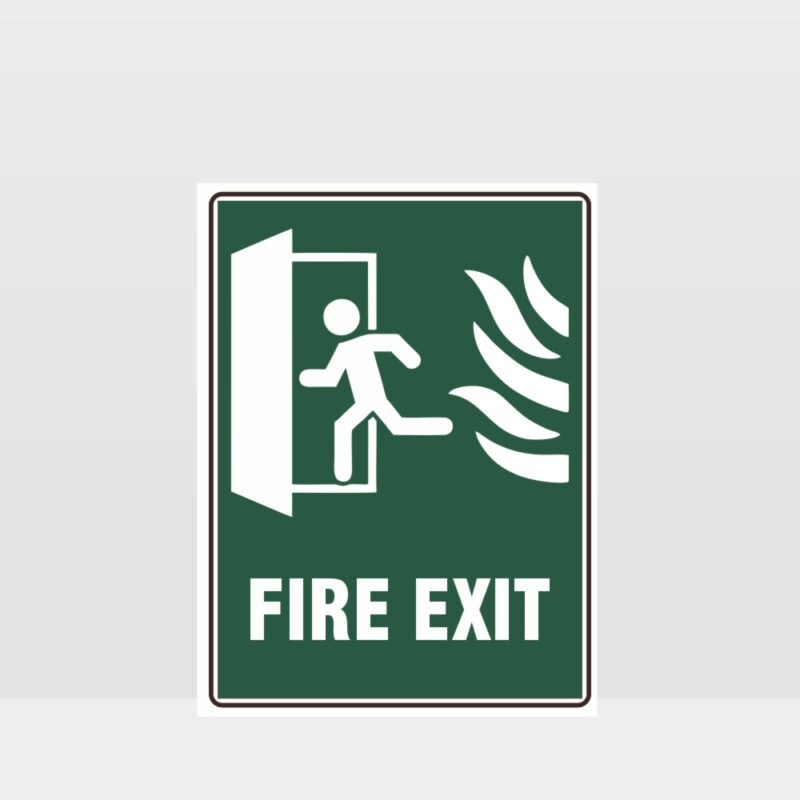 Fire Exit Green Sign