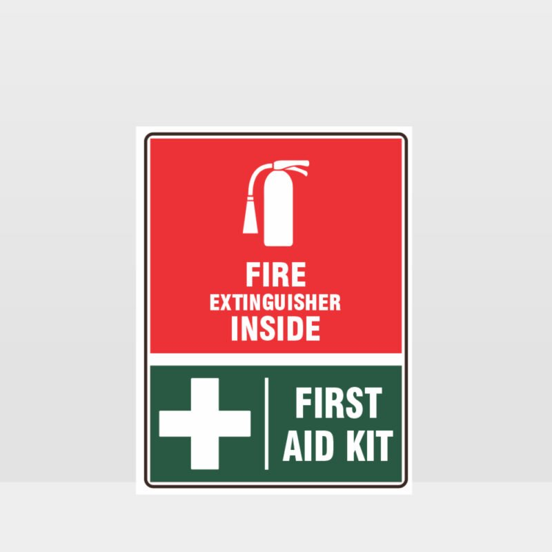 Fire Extinguisher First Aid Kit Sign