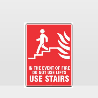 Use Stairs Fire Sign 02