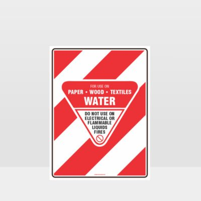 Water Fire Hose Sign