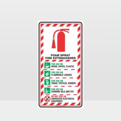 Foam Spray Fire Extinguisher Sign