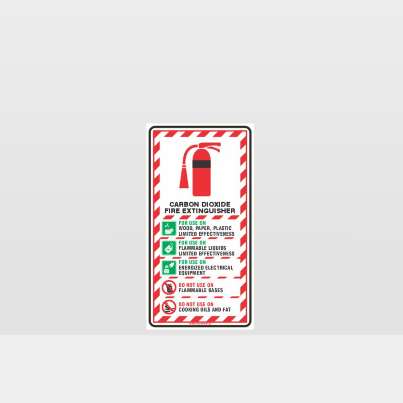 Carbon Dioxide Extinguisher Sign