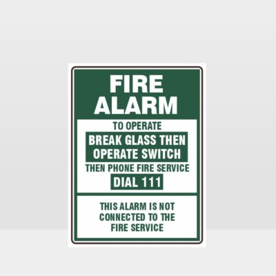 Fire Alarm Green Sign
