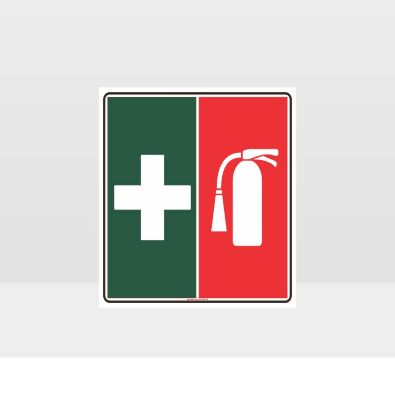 First Aid Fire Extinguisher Symbol Sign