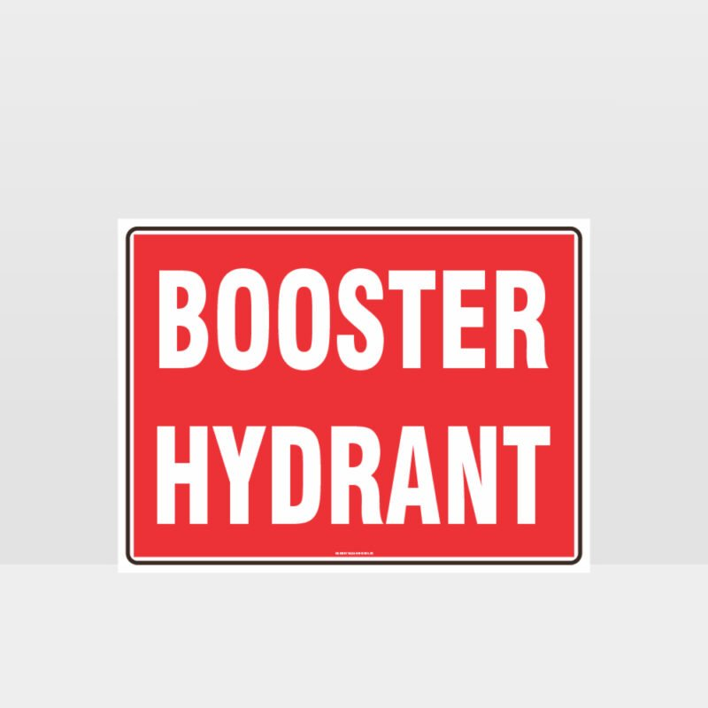 Fire Booster Hydrant Sign