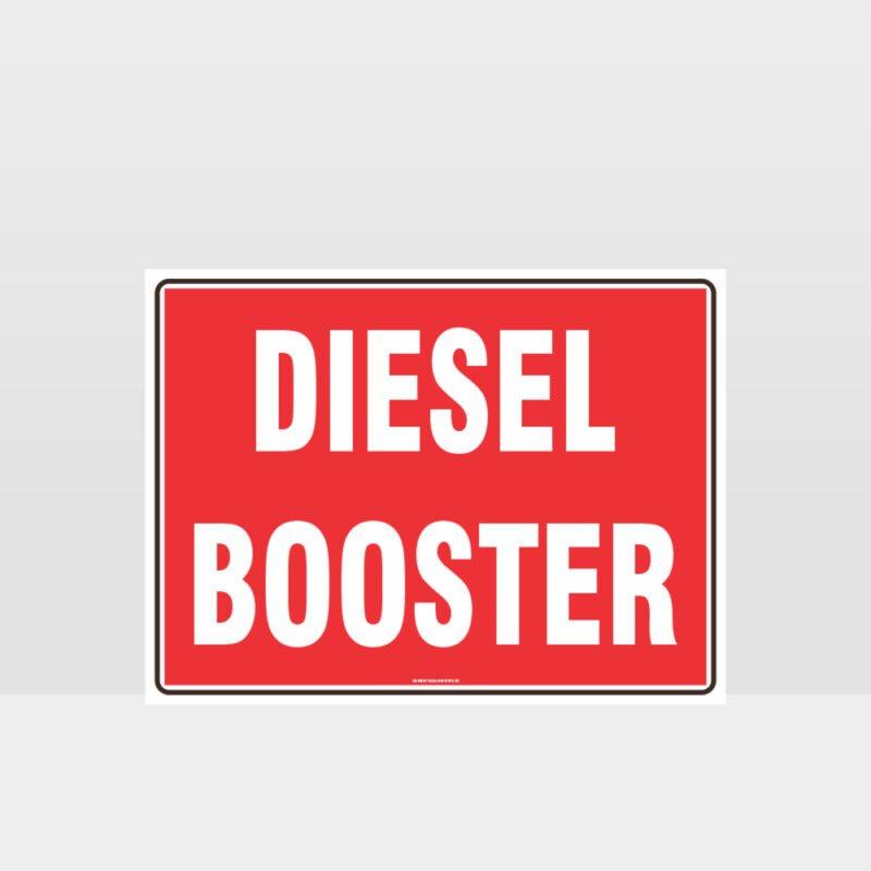 Fire Diesel Booster Sign
