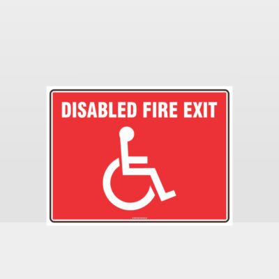 Disabled Fire Exit Sign