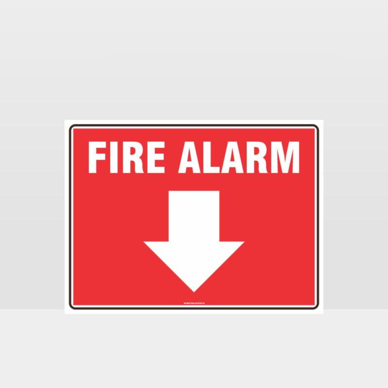 Fire Alarm Below Sign