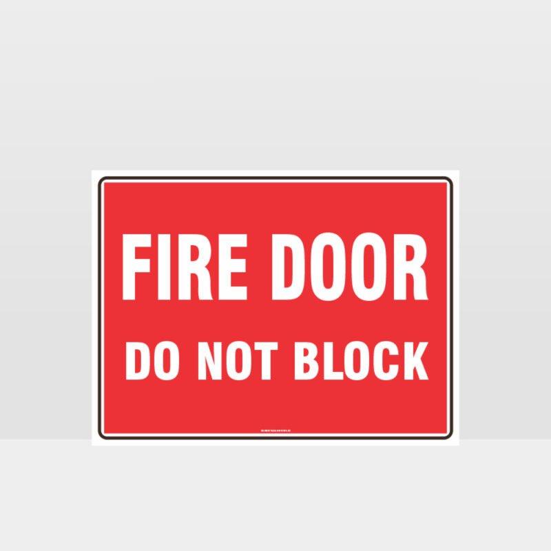 Fire Door Do Not Block 01 Sign