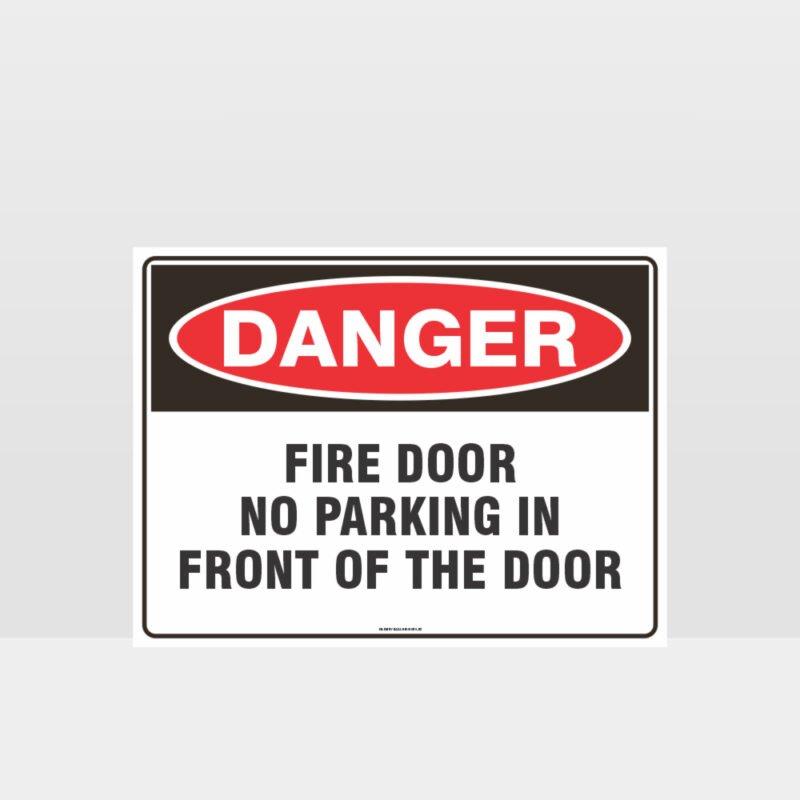 Fire Door No Parking Sign